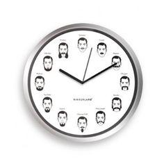 BiAcayip.com'da Kikkerland Bıyık Mutfak Saati (20cm Wall Clock Gentlemans)