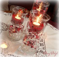 Decorations for a Valentine table