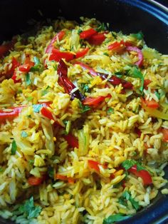 Cumin and Lime Rice - this is a very healthy option, if you decide to cook Latin American food. What it is, is that it is basically rice with a bunch of vegetables mixed with it, however the main ingredients you taste are cumin and lime. Rice Recipes, Mexican Food Recipes, Great Recipes, Vegetarian Recipes, Cooking Recipes, Favorite Recipes, Healthy Recipes, Latin American Food, Latin Food