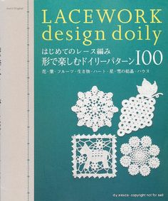 Lacework design doily, free book