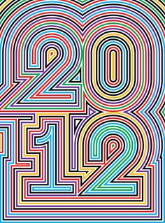 Psychedelic poster for 2012