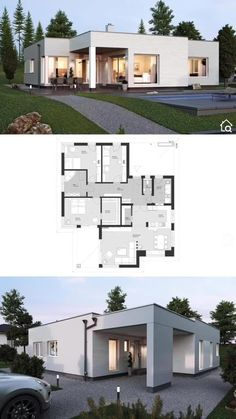 Sims House Plans, House Layout Plans, Dream House Plans, House Layouts, House Floor Plan Design, Tiny Home Plans, One Floor House Plans, L Shaped House Plans, House Design Drawing