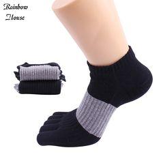 New 2017 Socks Cotton Men Five Fingers Socks Fashion Mixed Colors Male Toe Socks Casual Warm Socks Toe Man 4pcs=2pairs/lot