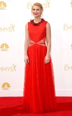 Claire Danes rocking the #Passion #red from 2014 Emmys: Red Carpet Arrivals | E! Online - #LoveIt!