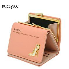 Mini Hasp Female Leather Wallet Women Small Luxury Brand Women Purse Lady Short Clutch 2017 New Slim Womens Wallets and Purses