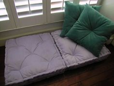 SALE! Blue Floor Pillow, Tufted Floor Cushion with French Mattress ...