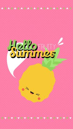 iPhone Hello Summer Fruit Edition - Pineapple Pink Lock