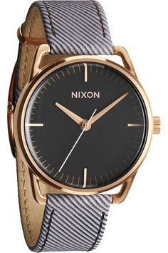 Nixon Mellor Watch in Chocolate Pinstripe
