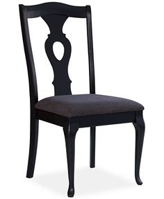 Branchville Black Pierced Splat Back Side Chair