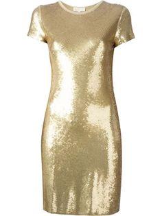 sequinned shortsleeved dress , Michael Kors