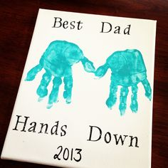 """#diyfathersdaycard Canvas Art!  8"""" x 10"""" Canvas  Acrylic paint...any color  Rub-On letters by paper studio (usually in the scrapbook section @ hobby lobby)    Black sharpie for the year"""