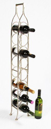 durable service pisa wine rack free standing 4 bottle storage metal holder holds