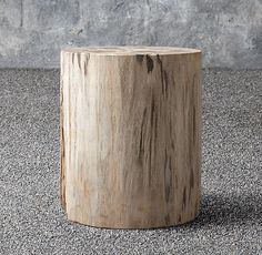 Petrified Wood Outdoor Round Side Table
