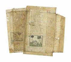 GUILLAUME DE LORRIS AND JEAN DE MEUN, TWO LEAVES FROM THE ROMAN DE LA ROSE, IN FRENCH VERSE, ILLUMINATED MANUSCRIPT ON VELLUM [PARIS, FIRST QUARTER 15TH CENTURY].