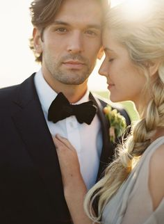 Love this close up of the groom, he deserves some handsome photographs too! Adore this pose idea for brides and grooms.