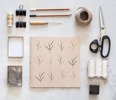 Square Recycled Sketchbook with botanical print por Hamutelet, $16.00