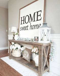 Home Sweet Home Wall Decoration Ideas For Rustic Farmhouse - Best Farmhouse Decor Ideas: Beautiful, Modern and Classic Country Style Home Decorating Ideas and Designs Dekor Ideen 75 Best Rustic Farmhouse Decor Ideas + Modern Country Styles Decor, Farmhouse Decor Living Room, Home Living Room, Farm House Living Room, Entryway Decor, Home Decor, House Interior, Country Style Homes, Rustic House