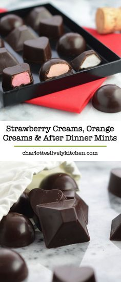 Create some of your chocolate box favourites at home – strawberry and orange creams and delicious after dinner mints.