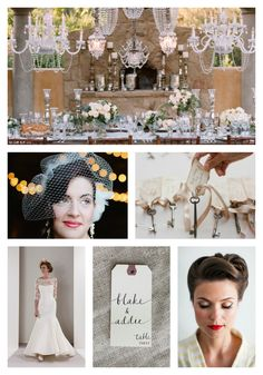 Vintage wedding ideas... love the table seating keys, very creative