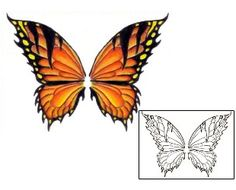 Butterfly Tattoos PVF-00290 Created by Pericle Varduca