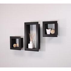 nexxt Design Cubbi Framed 3 Piece Wall Shelf Set & Reviews | Wayfair