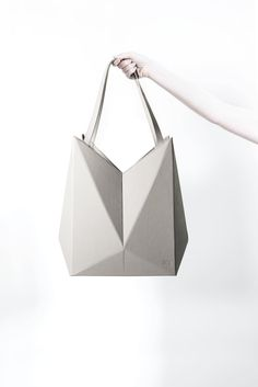 Geometric Handbag - leather origami bag, innovative fashion accessories // Finell