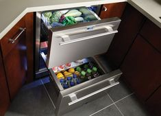 True Professional Series  The True Undercounter Refrigerator Drawers are the ideal addition to your home. Designed to provide complete flexibility while also enhancing your existing space, True's undercounter drawer refrigerator gives you all the additional cold storage needed. This model is also UL-rated as an outdoor refrigerator for total versatility.
