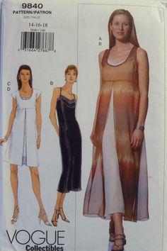 Vogue 9840 Misses' Dress
