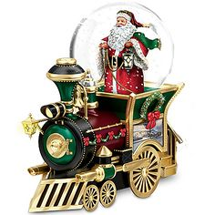 lenox christmas snow globes | Santa Claus Is Comin to Town