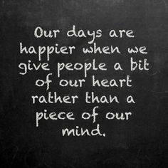 Lifehack - Give people a bit of our heart  #Happy, #Heart, #Mind