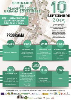 """Universidad de Extremadura: """"Seminario en Planificación Urbana Sostenible"""" (2015)"""