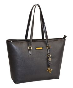 Look at this Adrienne Vittadini Black Laptop Tote on #zulily today!