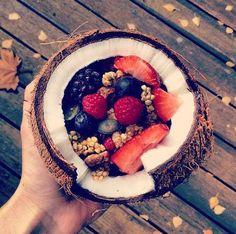 delish fun way to eat breakfast I Love Food, Good Food, Yummy Food, Plat Vegan, Healthy Snacks, Healthy Recipes, Healthy Eating, Dessert Healthy, Breakfast Healthy
