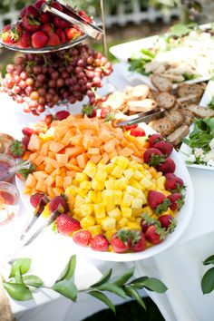 Beautiful lunch buffet. Catered by Lockwood Table Cafe, of Solana Beach.