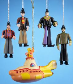 SET OF 5 PVC CHRISTMAS ORNAMENTS [7297] - $20.00 : Beatles Gifts, The Fest for Beatles Fans