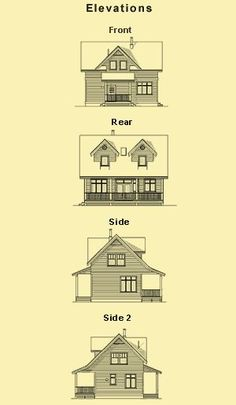 Simple House Designs, Small Two Story House Plans & Cabin Designs