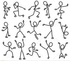 Because stick people are fun to draw.Movement In Art Clipart - ClipartFox Doodle Drawings, Doodle Art, Easy Drawings, Doodle Sketch, Drawing For Kids, Art For Kids, Stick Figure Drawing, Sketch Notes, Simple Doodles