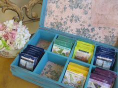 Hand Painted Jewelry Box  Wooden Tea Box   by myplace4tea on Etsy