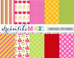 Apple of my Eye Digital Paper Pack for Personal by DreamlikeMagic, $2.50