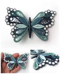 Quilling Tier Design - Quilled Paper Art - I love Animal :) Neli Quilling, Quilling Butterfly, Paper Quilling Flowers, Paper Quilling Cards, Quilling Work, Paper Quilling Jewelry, Paper Quilling Patterns, Origami And Quilling, Quilled Paper Art