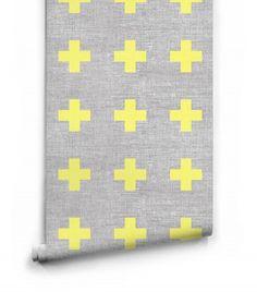 Swiss Linen Wallpaper from Ingrid & Mika