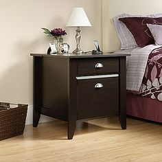 Jamocha Wood SmartCenter™ Office Furniture and Side Table