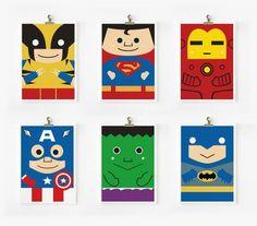 Super Cute Superhero Art Prints on Etsy