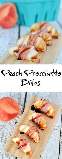 Peach Prosciutto Bites