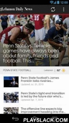 Lebanon Daily News  Android App - playslack.com ,  Welcome to the new Lebanon Daily News Android app! Get the latest national and local news for Lebanon, PA with the Lebanon Daily News Android app.• Up-to-the-minute local news• Captivating full-screen video and photo galleries • Breaking news alerts on the go• Current weather conditions, 10 day forecast and radar map• Sports, Business, Entertainment and Life coverage, in addition to commentaries and opinion columns• Share articles, galleries…