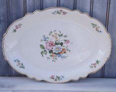 Vintage Homer Laughlin Platter/Virginia Rose Platter/H 50 N 8/ Made in the Usa