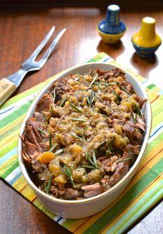 Slow Cooker Apple Rosemary Pork Roast (Whole Scd, Gaps, Aip, Wapf) Primal Recipes, Pork Recipes, Slow Cooker Recipes, Real Food Recipes, Healthy Recipes, Slow Cooking, Batch Cooking, Clean Eating, Healthy Eating