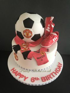 The Football Boots Cake! - cake by Penny Sue Soccer Birthday Cakes, Soccer Cake, Happy Birthday Dog, New Birthday Cake, Football Cakes For Boys, Sports Themed Cakes, Football Themed Cakes, Cupcake Cakes, Cupcakes