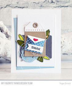 Vandaag is het release day en vind je nog meer voorbeelden van de Card Kit van Juni op het My Favorite Things Stamps  blog . Elke maand...