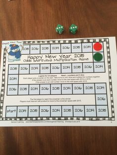 FREEBIE - New Year Math Games - 4 math games by Games 4 Learning to celebrate the start of the 2015 New Year! No Prep Games - just print and play! Happy New Year!